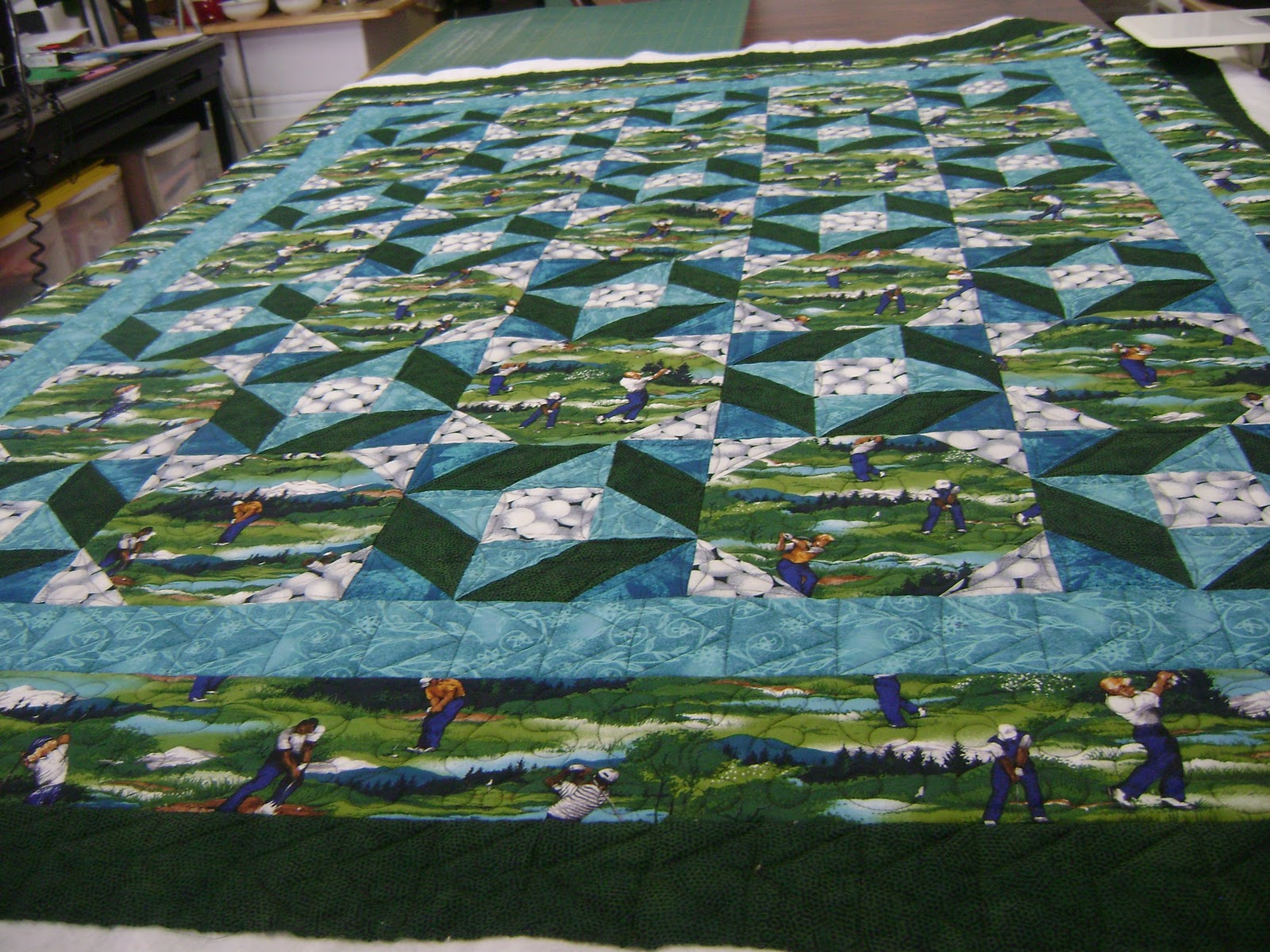 Two more quilted | Anita's quilts and quilting : golf quilts - Adamdwight.com