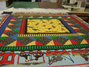 Circus train play quilt
