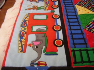 border of circus quilt