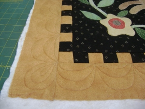 outside border of rabbit quilt