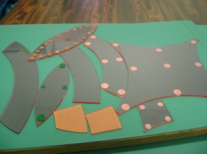 Mis-matched set of double wedding ring templates
