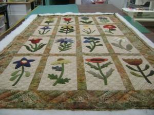Ann G's wool applique quilt
