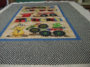 # 14 Sheila's monster trucks quilt